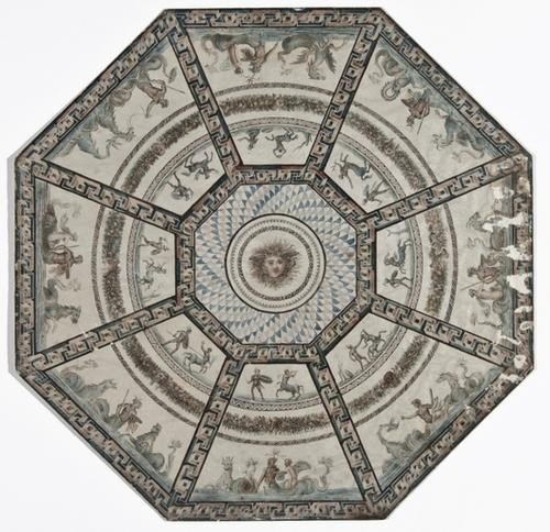 201: 18th century octagonal ceiling or table top design