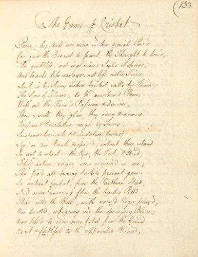 47D: Eighteenth Century Poetry.- Volume of poems,