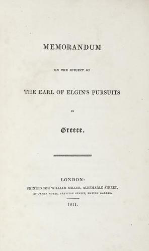 22: [Hamilton (William Richard)] Memorandum on the sub
