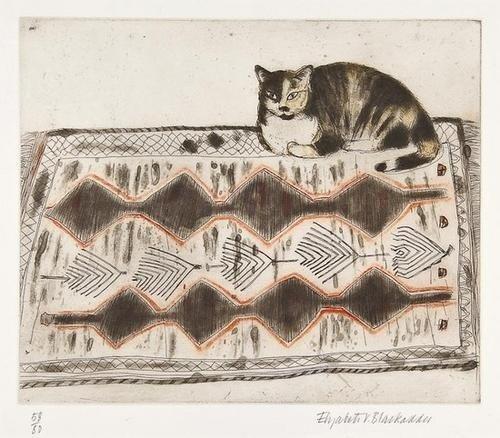 11: Dame Elizabeth Blackadder RA (b.1931) Kikko on a r
