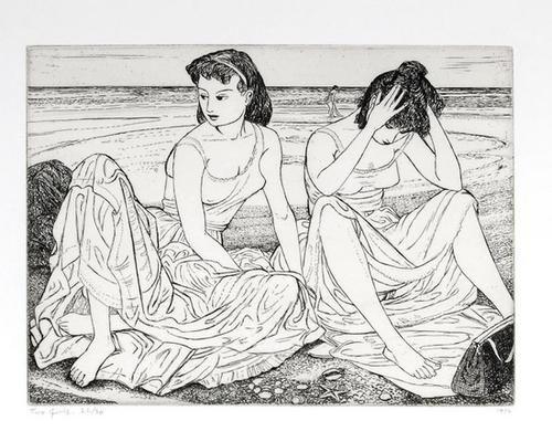 21: John Buckland Wright (1897-1954) Two Girls (B.W.M.