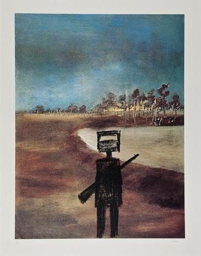 110: Sidney Nolan (1917-1992) Landscape (with Ned and R