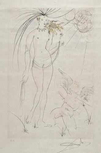 157: Salvador Dali (1904-1989) Venus et l'amour, from S