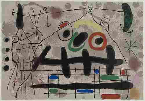 188: Joan Miró (1893-1983) Le Lézard aux Plumes d'Or