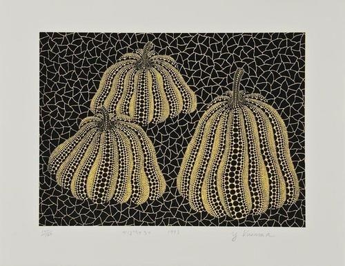 250: Yayoi Kusama (b.1929) Three Pumpkins