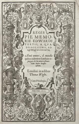 14: England: Yearbook. Regis Pie Memorie Edwardi Terti