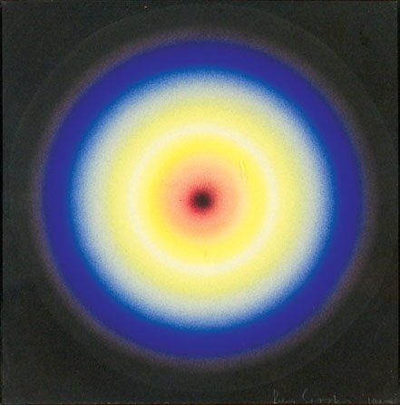 255A: Peter Sedgley (b. 1930) composition: orange to bl