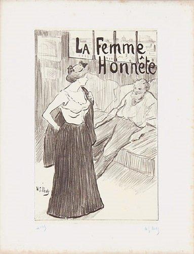 4B: Ibels (Henri) la femme honnete; cafe scene; despa