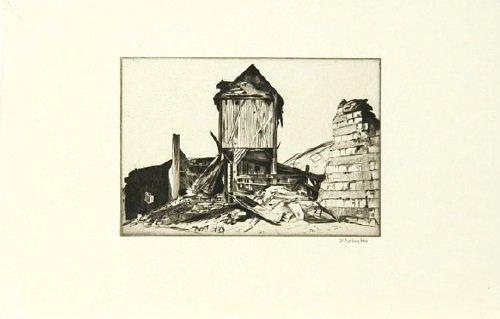 21B: Rothenstein (William) landscapes of the war