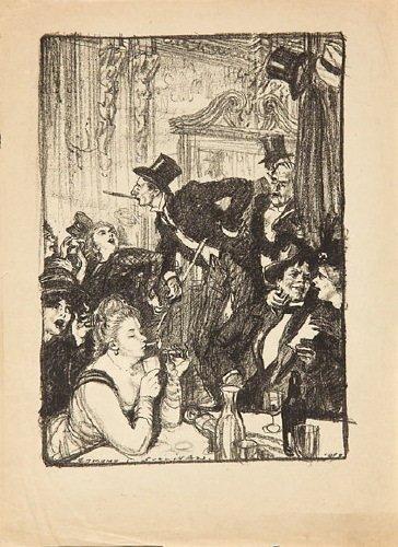 23B: Sullivan (Edmund. J.) cafe scene; portrait of geo
