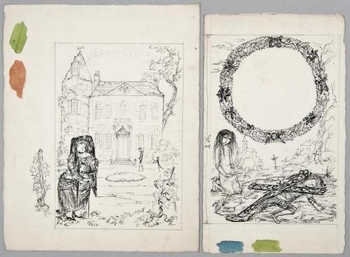 357: Jullian (Philippe) Two ink drawings