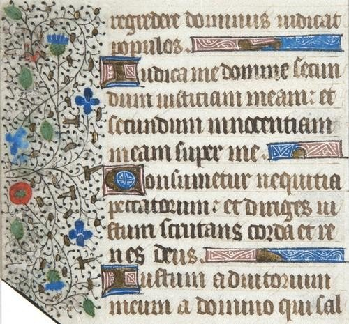 5: Book of Hours, part of a single f.