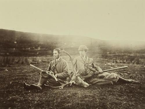 5: Horatio Ross (1801-1986) Two Hunters with Dead Sta