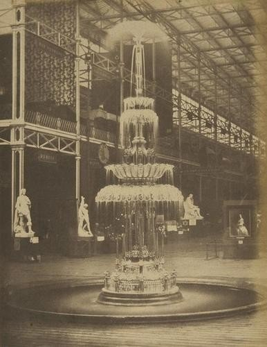 22: Claude Marie Ferrier (1811 - 1889) Glass Fountain