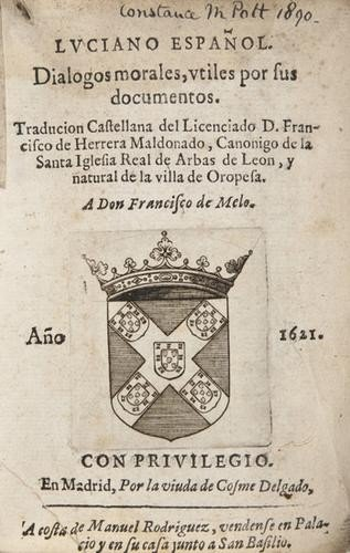 15: of Samosata. Luciano Español. Dialogos Morales, ut
