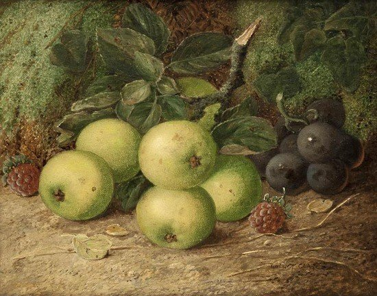 282: Vincent Clare (c.1855-1930) Still life with apples