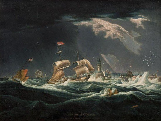 286: English School A View of Ramsgate, with Vessels in