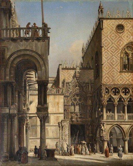 292: Francesco Zanin (fl. 1850-1888) Porta della Carta,