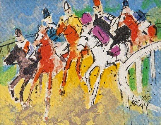 295: Charles Cobelle (1902-1998) Horse Race