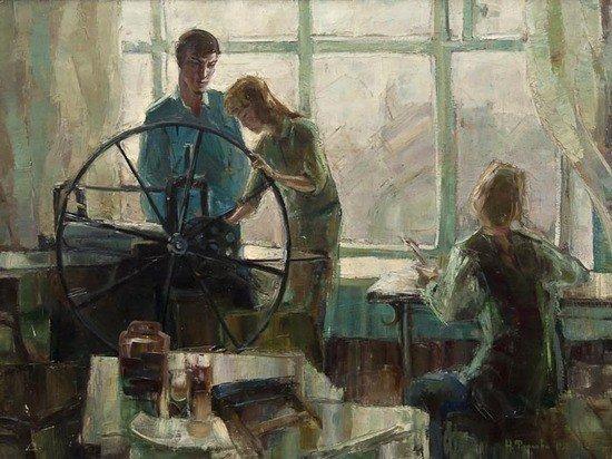296: N. Frolova (Russian, 20th century) The printing pr