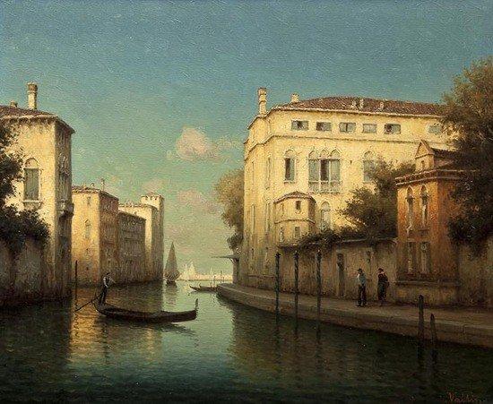 297: Hugo Golli, called Vallin (b.1921) Side canal in l