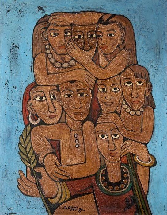 301: Samir Rafi (Egyptian, 1926-2004) La Famille