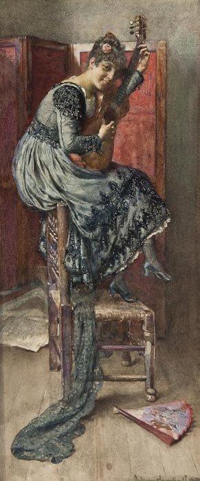 373: John Henry Henshall (1856-1928) La Coquette