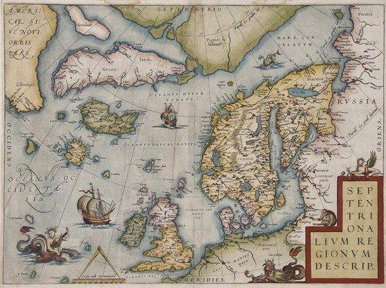 207: Ortelius (Abraham) Septentrionalium Regionum Descr