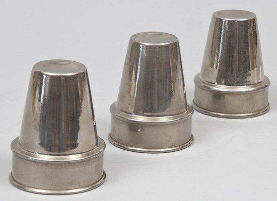 444: Hofzinser (Johann Nepomuk).- A set of three plated