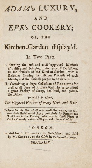 2: Adam's luxury, and Eve's Cookery; or, the Kitchen