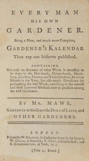 4: [Abercrombie (John)] Every Man His Own Gardener.