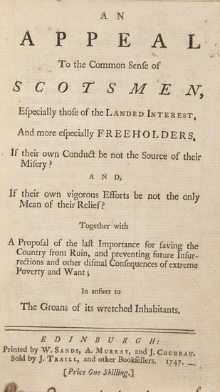 9: An appeal to the common sense of Scotsmen, Especia