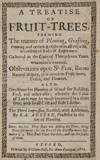 12: Austen (Ralph) A Treatise of Fruit-Trees, sewing T