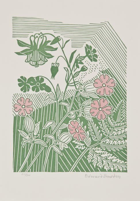 3: Edward Bawden (1903-1989) Campions and Columbine