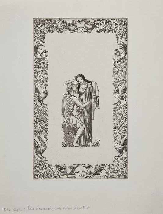 13: John Buckland-Wright (1897-1954) Two Title Pages f