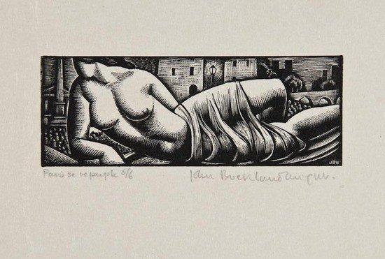 19: John Buckland-Wright (1897-1954) Paris se Repeuple