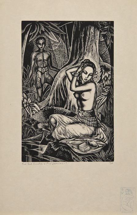 22: John Buckland-Wright (1897-1954) Red Jasmine & Qui