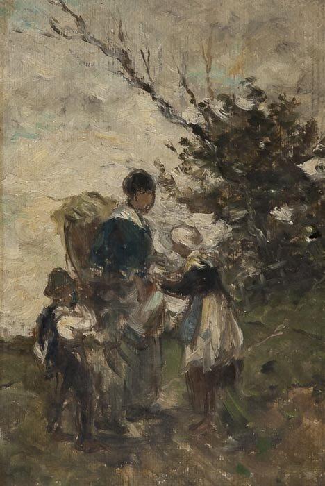 2: Gustave Laeverenz (German, 1851-1909) A peasant fa