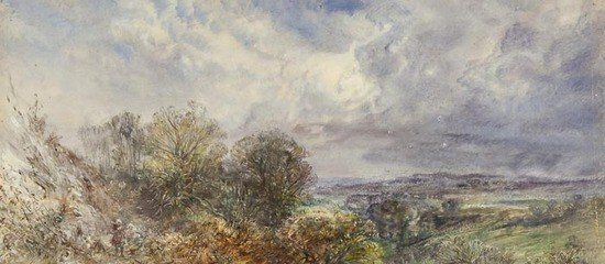 6: F. Wagner (1819-1881) Landscape with two peasants