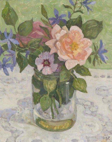 11: Dora Carrington (1893-1932) Flowers in a glass jar