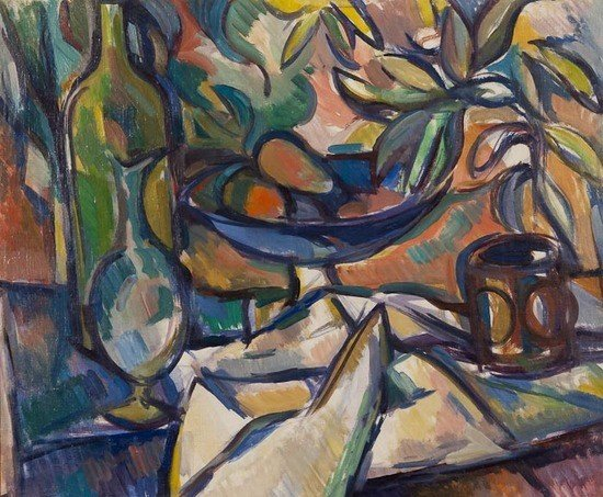 12: Caziel (1906-1988) Still life with bowl of fruit