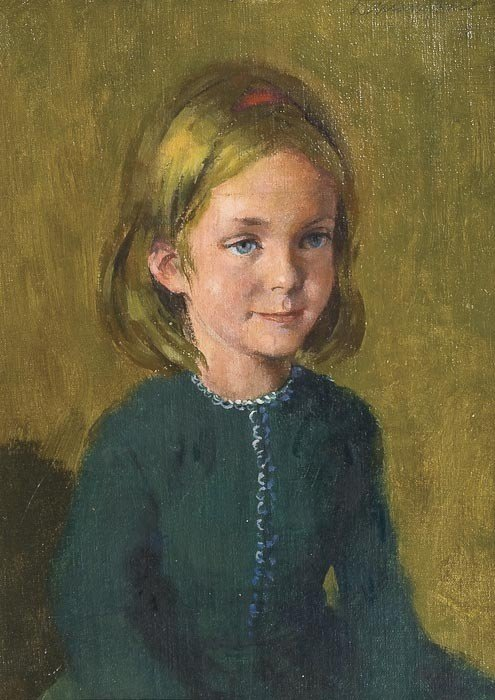 13: William Dring (1904-1990) Portrait of a girl