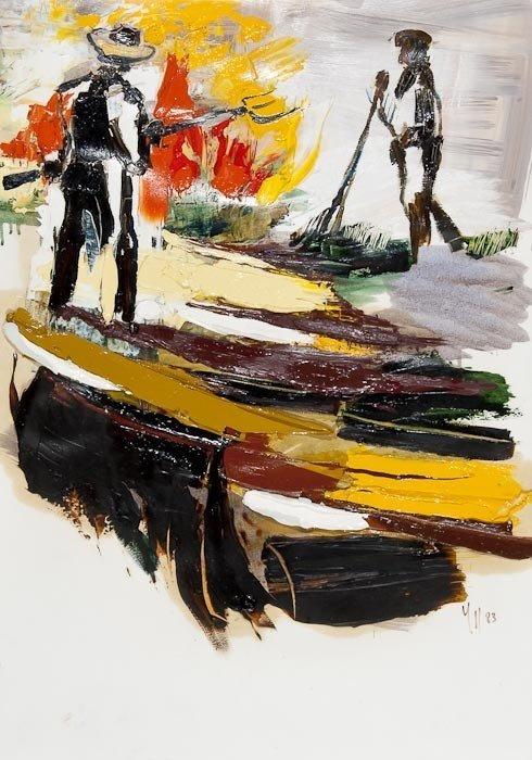 14: Isabelle Duret-Dujarric (b.1949) Feu de paille