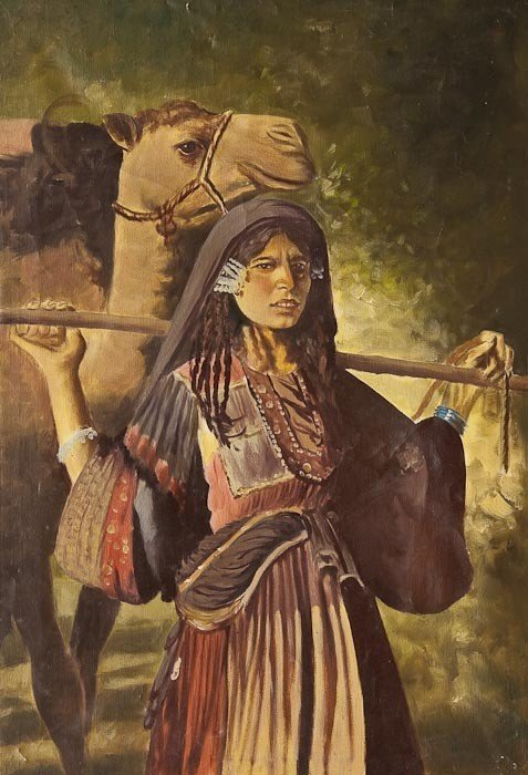 15: 20th century Egyptian School Touareg Woman and Cam
