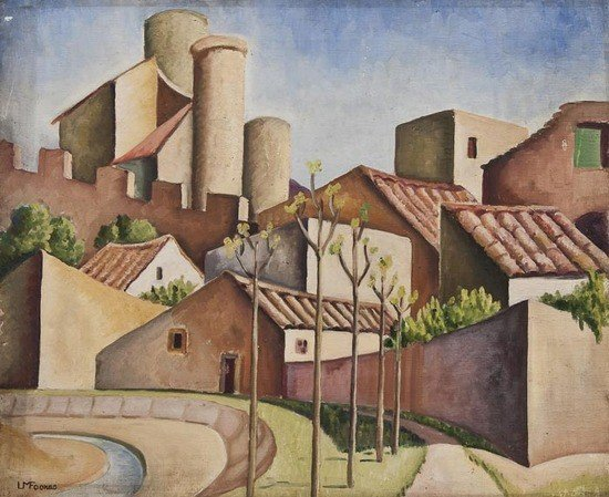 16: Ursula Fookes (1906-1991) Southern European townsc