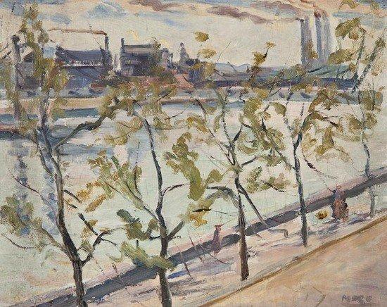 21: Paul Lucien Maze (1887-1979) Chelsea Embankment