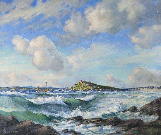 22: Bernard Ninnes (1899-1971) Summer Seas, Portmeor,