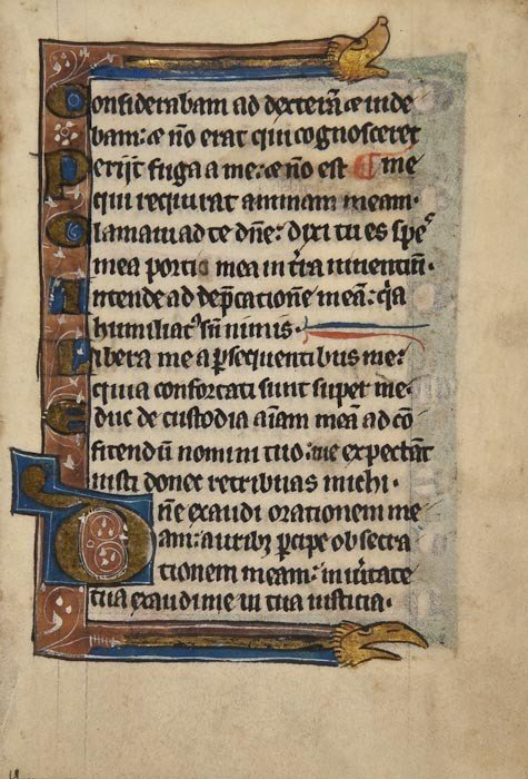 2: Psalter, single leaf, parts of psalms 141 and 142