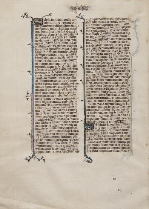 3: Latin, single leaf, Ecclesiasticus 11 and the begi