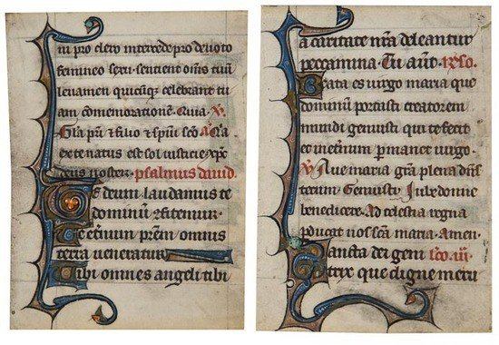 4: Psalter, two leaves